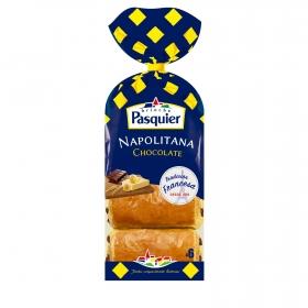 Napolitana de chocolate Pasquier pack de 6 unidades de 45 g.