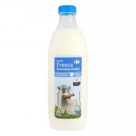 Leche semidesnatada fresca Carrefour botella 1,5 l.