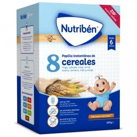 Papilla 8 Cereales desde 6 meses sin azúcar añadido Nutribén 600 gr