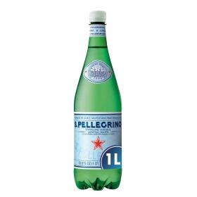 Agua mineral San Pellegrino natural con gas 1 l.