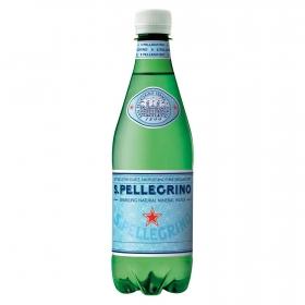 Agua mineral San Pellegrino natural con gas 50 cl.