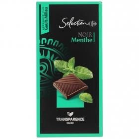 Chocolate negro con menta Carrefour Selección 100 g.