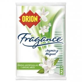 Pinza antipolillas Fragance jazmín y muguet Orion 2 ud.
