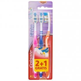 Cepillo dental zigzag suave Colgate 3 ud