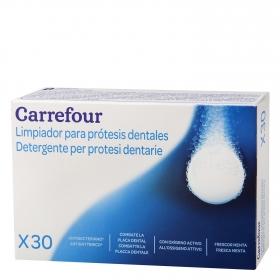 Pastillas efervescentes para limpiar dentaduras