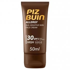 Crema solar facial Alergy SPF 30 Piz Buin 40 ml.