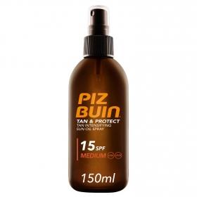 Aceite spray solar Tan&Protect SPF 15 Piz Buin 150 ml.