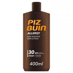 Loción solar Allergy FP 30 Piz Buin 400 ml.