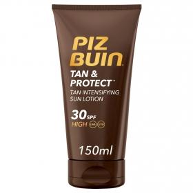 Loción solar Tan&Protect SPF 30 Piz Buin 150 ml.