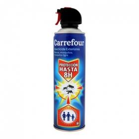 Insecticida exteriores para moscas y mosquitos aerosol Carrefour 500 ml.