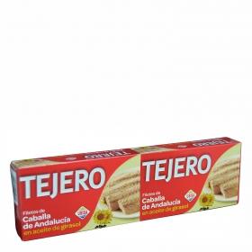 Filetes de caballa de Andalucía en aceite de girasol Tejero 2x60 g.