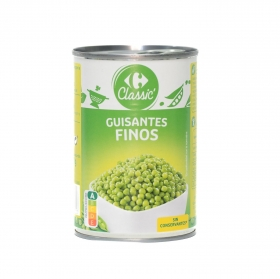 Guisantes muy finos Carrefour 250 g.