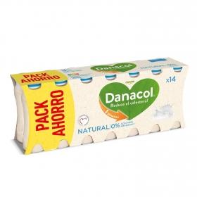 Yogur líquido natural  Danone Danacol pack de 14 unidades de 100 g.