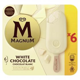 Bombón helado White Magnum sin gluten pack de 6 unidades de 100 g.