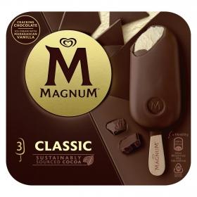 Bombón helado Classic Magnum sin gluten pack de 3 unidades de 110 g.
