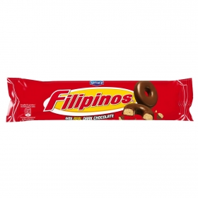 Filipinos con chocolate negro 100 g.