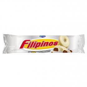 Filipinos con chocolate blanco 100 g.