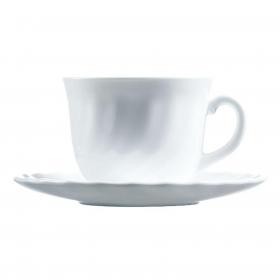 Juego de Café Redondo de Vidrio Opal LUMINARC Trianon 8pz - Blanco