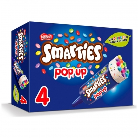 Mini helado Pop Up Smarties Nestlé 4 ud.