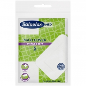 Apósitos maxi cover esteril 76x54 mm Salvelox 5 ud.