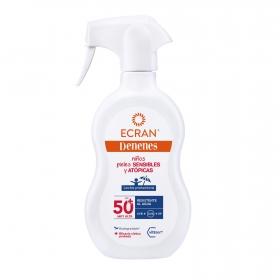 Leche solar protectora FP 50+ pieles sensibles y atópicas Denenes 300 ml.