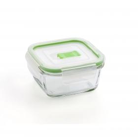 Recipiente Hermetico Cuadrado  de Cristal LUMINARC Pure Box Active 0,12l  - Transparente