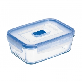 Recipiente Hermetico Rectangular de Cristal LUMINARC Pure Box Active 0,82 L. - Transparente