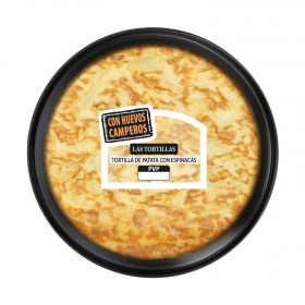 Tortilla de patata con espinacas 600 g