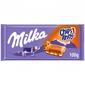 Chocolate con leche y chips ahoy Milka 100 g.