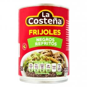 Frijoles negros refritos La Costeña 580 g.