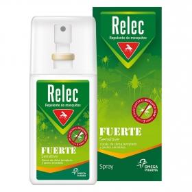 Spray repelente de mosquitos fuerte Sensitive Relec 75 ml.
