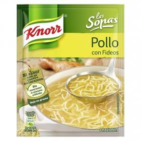 Sopa de pollo con fideos Knorr 63 g.