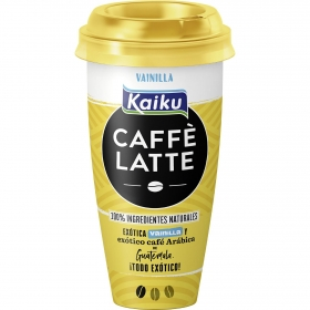 Café latte de vainilla Kaiku 230 ml.