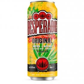 Cerveza Desperados con tequila lata 50 cl.