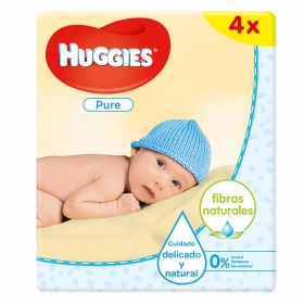 Toallitas Huggies® Pure 4 paquetes, 224 uds