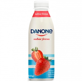 Yogur líquido de fresa Danone 550 g.