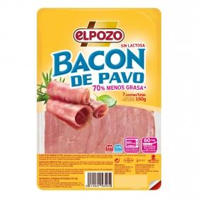 Bacon de pavo en lonchas El Pozo Bienstar sin gluten y sin lactosa 150 g.