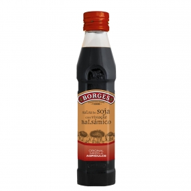 Salsa de soja y vinagre balsámico de módena Borges 250 ml.
