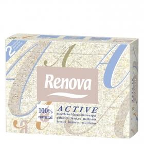 Pañuelos faciales 100% natural Renova 46 ud.