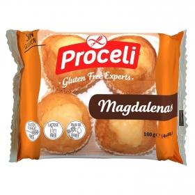 Magdalenas tiernas y suaves Proceli sin gluten 4 ud.