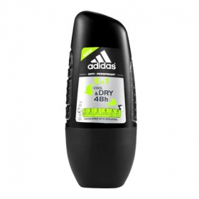 Desodorante roll-on 6 en 1 Cool&Dry Adidas 50 ml.