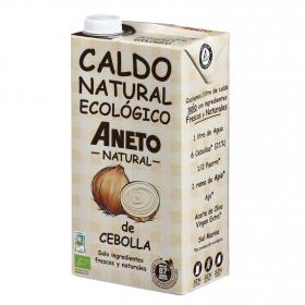 Caldo natural de cebolla ecológico Aneto sin gluten 1 l.
