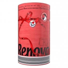 Papel de cocina compacto red label Renova 1 rollo