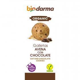 Galletas con avena y chocolate ecológicas Bio Darma 125 g.