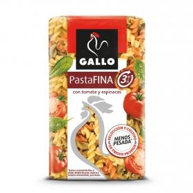 Espirales de tomate y espinacas pasta fina Gallo 400 g.