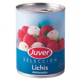 Lichis deshuesados en almíbar Juver 250 g.