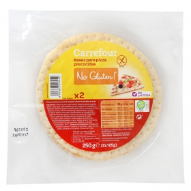 Base de pizza Carrefour No gluten sin gluten 250 g.