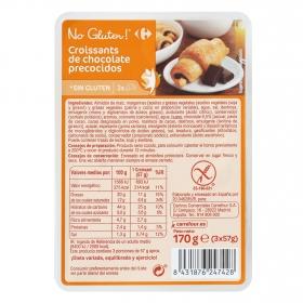 Croissants de chocolate Carrefour No gluten sin gluten 3 ud.