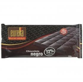 Chocolate negro 72% Eureka sin gluten 100 g.