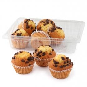 Magdalenas con pepitas de chocolate 8 ud, 420 g